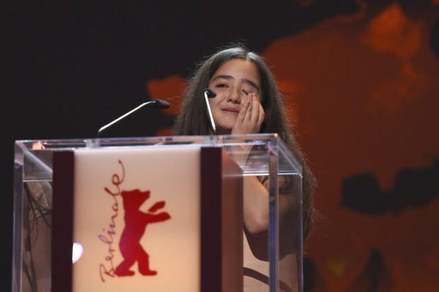 Hana Saeidi, la nièce du réalisateur Jafar Panahi,... (Tobias Schwarz, Reuters)