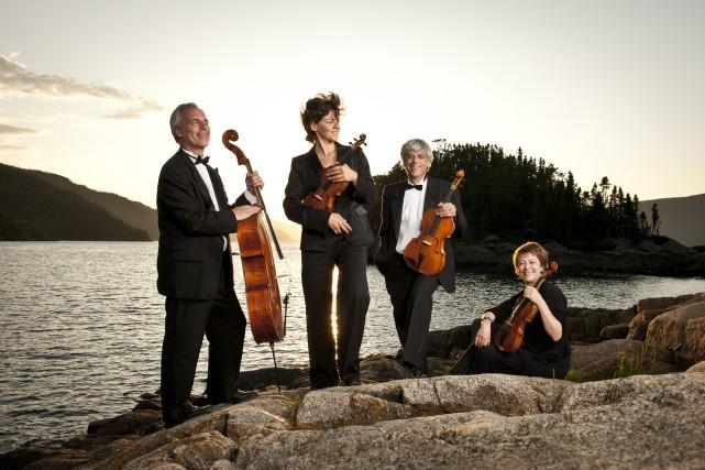 Pour son 25e anniversaire, le quatuor Alcan s'est... (Photo courtoisie)