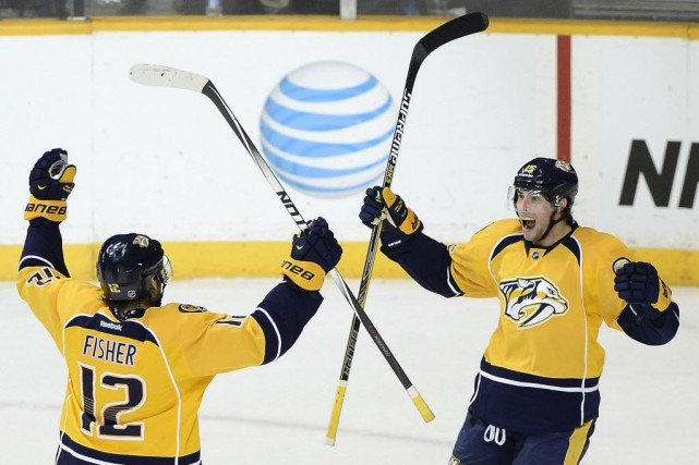 Les Predators de Nashville à une victoire de... (Photo Mark Zaleski, AP)