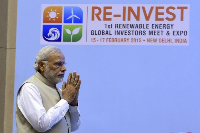 «L'importance que nous donnons aux énergies renouvelables ne... (PHOTO PRAKASH SINGH, AFP)