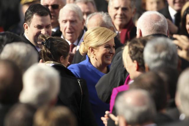 Kolinda Grabar-Kitarovic est l'ancienne ministre des Affaires étrangères... (PHOTO ANTONIO BRONIC, REUTERS)