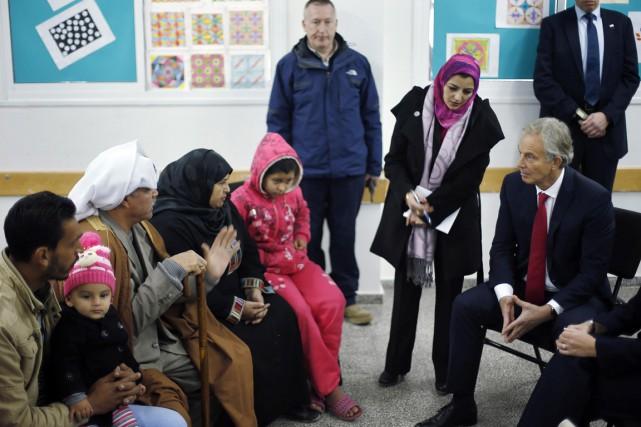 L'émissaire du Quartette pour le Proche-Orient, Tony Blair... (Photo Suhaib Salem, Reuters)