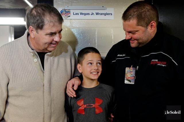 Trois générations de Lacroix ont été réunies au... (Le Soleil, Erick Labbé)