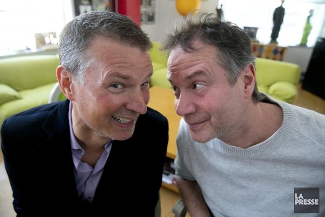 L'animateur et directeur artistique Stéphan Bureau (à gauche),... (PHOTO FRANCOIS ROY, LA PRESSE)