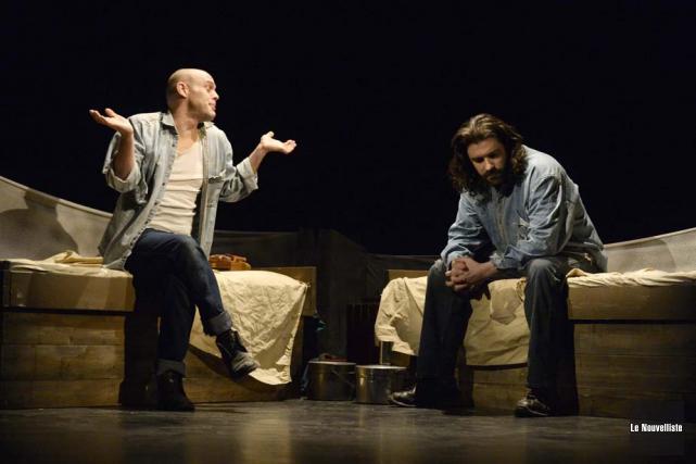 Martin Bergeron et Frédéric Dowd forment un solide... (Photo: Sylvain Mayer, Le Nouvelliste)