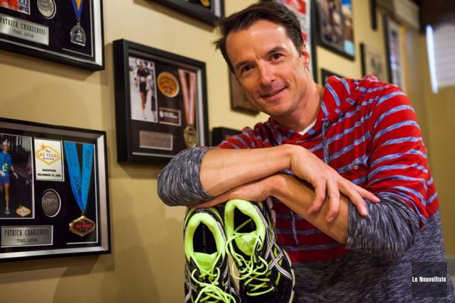 Patrick Charlebois espère devenir le neuvième marathonien amateur... (Photo: Olivier Croteau, Le Nouvelliste)