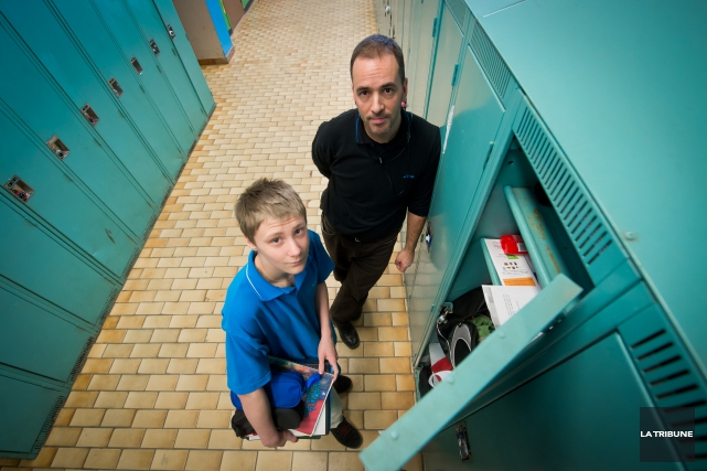 ÉrikLacasse, responsable d'encadrement disciplinaire à l'école secondaire l'Escale... (Imacom, Jessica Garneau)