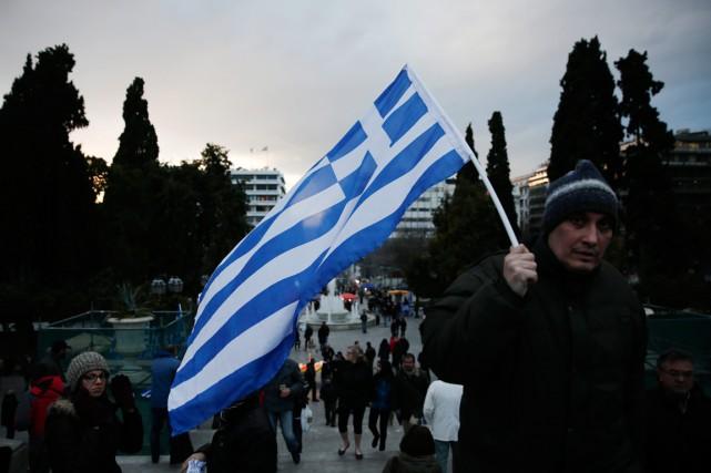 Athènes a rejeté lundi une proposition de la... (PHOTO PETROS GIANNAKOURIS, AP)