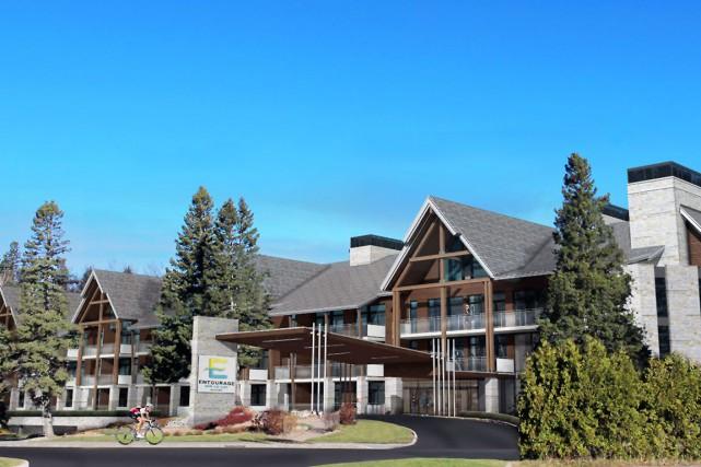 Le projet de condo-hôtel Entourage sur-le-lac verra le... (Photo fournie par Pierre Martin, architecte)