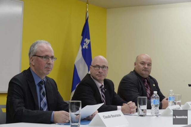 Dans l'ordre habituel, on retrouve Claude Bourassa, président-directeur... (Photo: Sylvain Mayer, Le Nouvelliste)