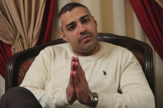 Mohamed Fahmy lors d'une entrevue au Caire, le... (PHOTO HASAN MOHAMED, ARCHIVES AFP)
