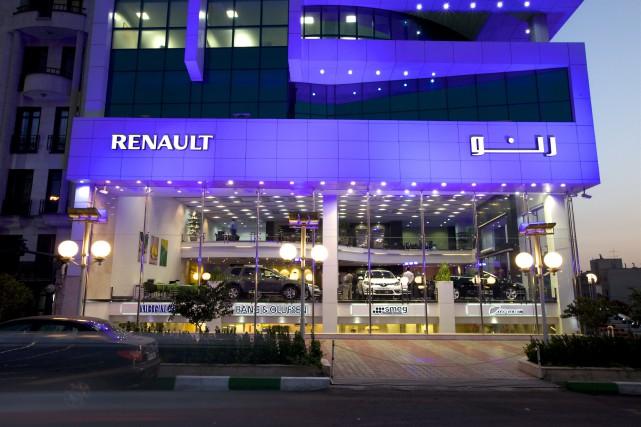 La concession Renault à Téhéran, en août 2014.... (Photo fournie par le constructeur)