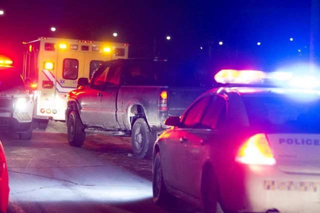 Un homme a été arrêté relativement à l'incendie... (Stéphane Lessard)