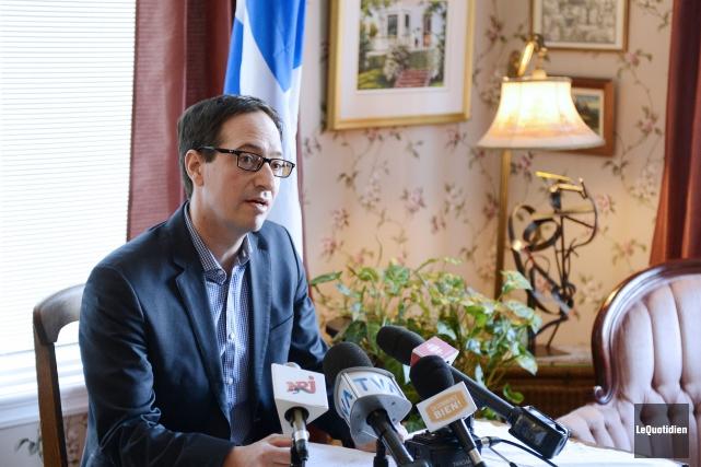 Le député de Chicoutimi à l'Assemblée nationale, Stéphane... ((Photo Le Quotidien, Jeannot Lévesque))