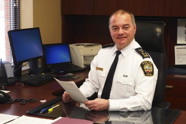 Le directeur du Service de police de Granby,... (photo Alain Dion)
