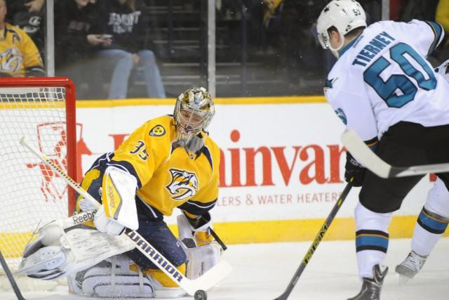 Pekka Rinne a fait 42 arrêts et les Predators de Nashville ont récolté un... (Photo: Reuters)