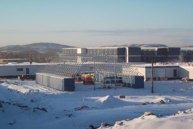 La construction des installations à la mine Renard... (PHOTO FOURNIE PAR LES DIAMANTS STORNOWAY)