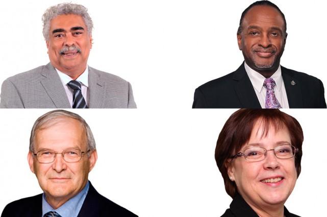 José Nunez-Melo, Tyrone Benskin, Réjean Genest et Francine... (PHOTOS TIRÉES DU SITE WEB DU NPD)