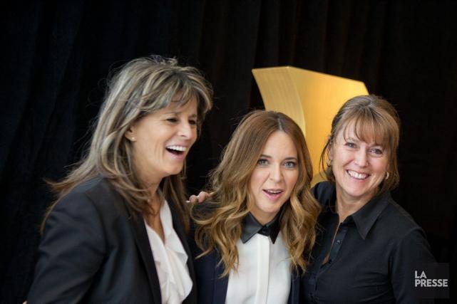 Les productrices Fabienne Larouche et Julie Snyder, ainsi... (PHOTO MARCO CAMPANOZZI, LA PRESSE)