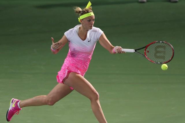 La deuxième tête de série PetraKvitova s'est inclinée... (Photo Kamran Jebreili, AP)