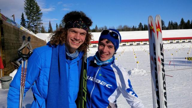 Jules Burnotte, à gauche, a récolté deux médailles... (Photo fournie)