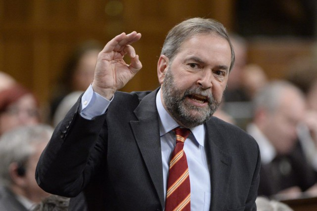 Thomas Mulcair a également remis en doute la... (PHOTO ADRIAN WYLD, ARCHIVES LA PRESSE CANADIENNE)