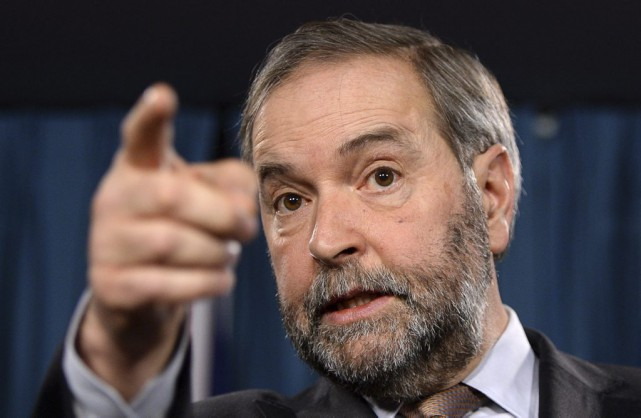 Le chef du NPD, Thomas Mulcair.... (PHOTO SEAN KILPATRICK, LA PRESSE CANADIENNE)