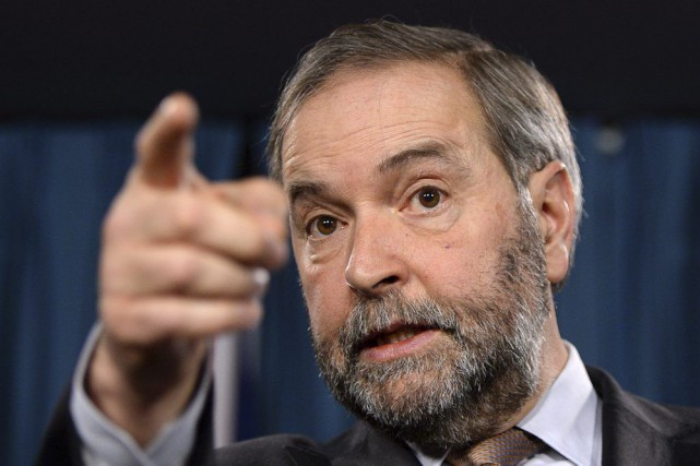 Le chef du NPD, Thomas Mulcair, a annoncé... (PHOTO SEAN KILPATRICK, LA PRESSE CANADIENNE)