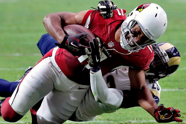 Larry Fitzgerald... (Photo Ross D. Franklin, AP)
