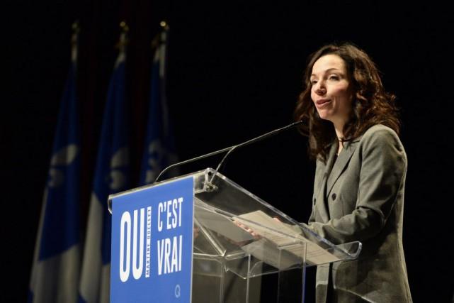 Martine Ouellet s'est présentée comme la meilleure candidate... (Photo Charles Laberge, collaboration spéciale)