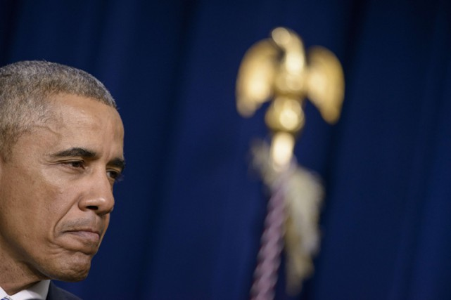Barack Obama a livré un discours mercredi après-midi... (Photo: AFP)