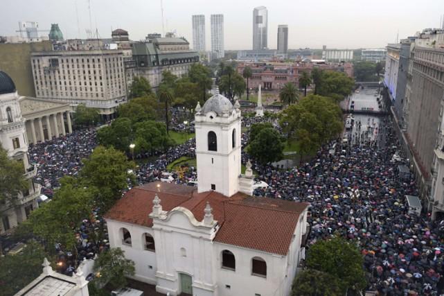 Une «marche du silence» a été organisée à... (Photo: AFP)