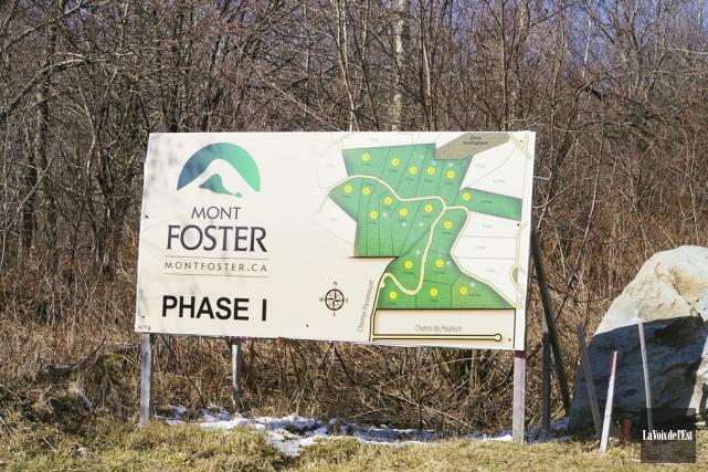 Le projet Domaine Mont Foster est stoppé depuis... (photo archives La Voix de l'Est)