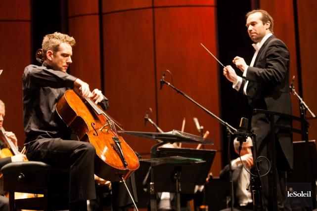 En première partie, l'OSQ recevait Johannes Moser, violoncelliste... (Photo le soleil, Caroline Grégoire)