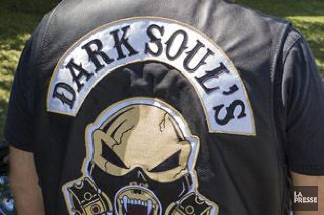 Le vice-président des Dark Soul's de Beauce, un club de motards associé aux... (Photothèque La Presse)