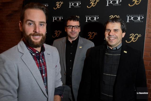 Les trois propriétaires de Chaussures POP, Danny Côté,... (Photo: François Gervais, Le Nouvelliste)