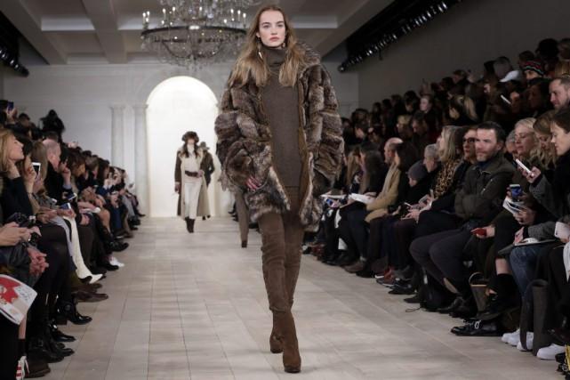 La nouvelle collection automne-hiver 2015 de Ralph Lauren... (Photo Richard Drew, AP)