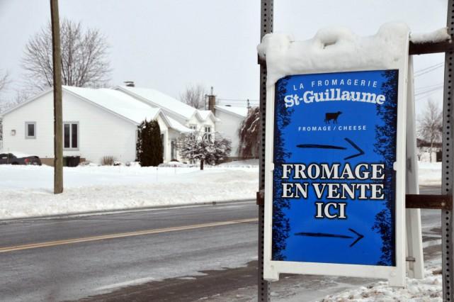 Le vol à la Fromagerie St-Guillaume est survenu... (Photo collaboration spéciale Éric Beaupré)