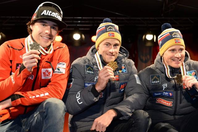 Alex Harvey (à gauche) a remporté une médaille... (Photo Frederik Sandberg, Reuters)