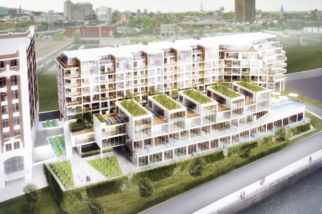 À l'est du Vieux-Montréal et du Vieux-Port, le... (Illustration fournie par Sid Lee Architecture)