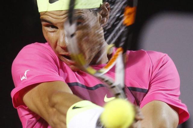 Dans le deuxième set, Nadal a résisté aux... (Photo Reuters)