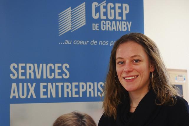 Maude Danis Coulombe, conseillère aux entreprises au Cégep... (photo Alain Dion)