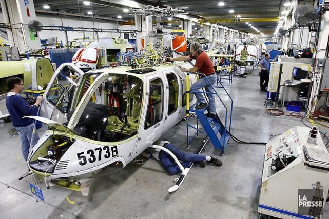 L'usine de Bell Helicopter Textron Canada à Mirabel.... (Photo Robert Skinner, archives La Presse)