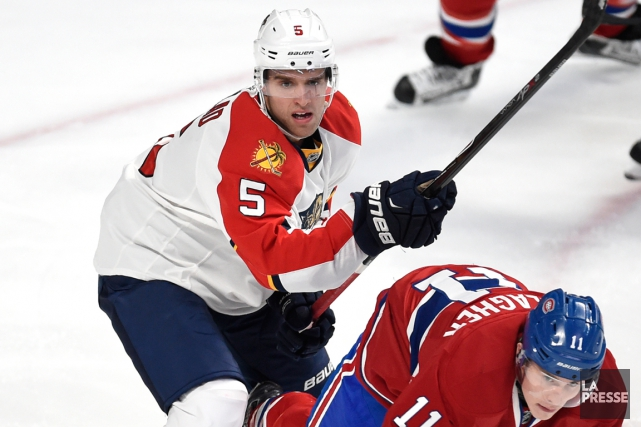 Aaron Ekblad a accumulé 32 points en 57... (Photo Bernard Brault, archives La Presse)