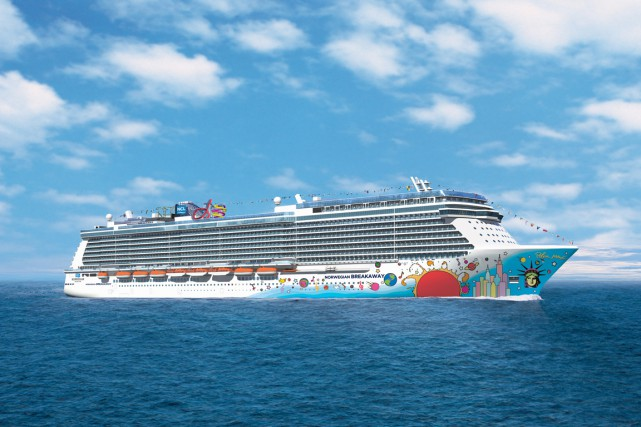 Le Norwegian Breakaway.... (PHOTO FOURNIE PAR NORWEGIAN CRUISE LINE)