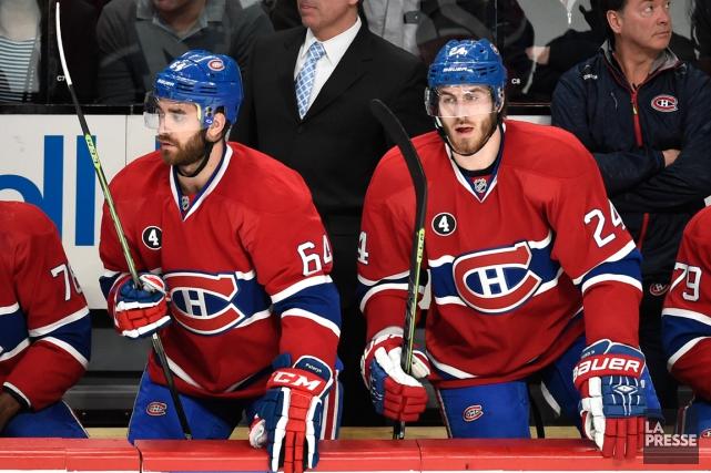 Greg Pateryn et Jarred Tinordi... (Photo Bernard Brault, La Presse)
