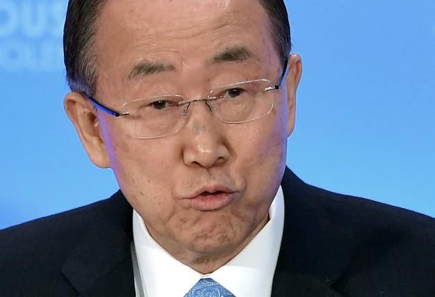 Le secrétaire général de l'ONU, Ban Ki-moon... (Archives AFP)