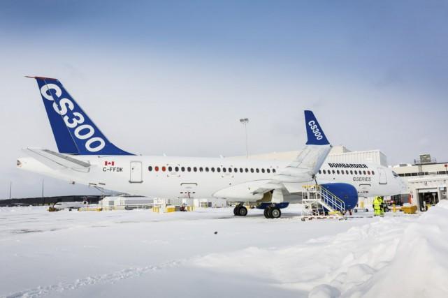 Le CS300, le plus gros appareil de la... (Photo fournie par Bombardier)
