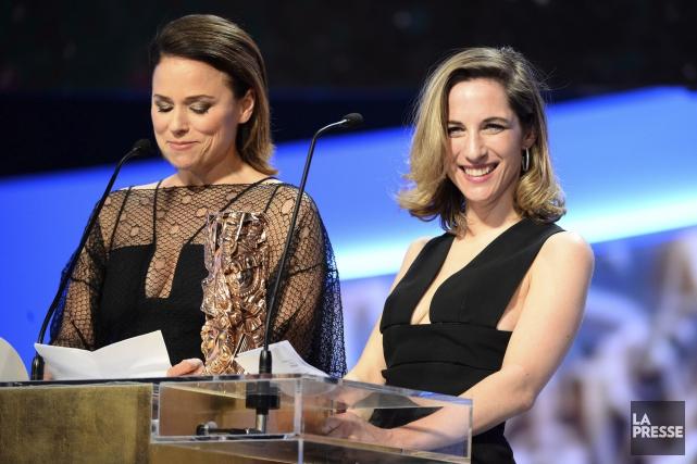 L'actrice Suzanne Clément et la productrice Nancy Grant... (Photo AFP, BERTRAND GUAY)