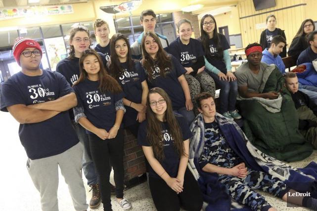 Plus de 80 étudiants ont participé au jeûne.... (Étienne Ranger, LeDroit)